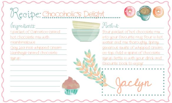 Recipe Card - Jaclyn