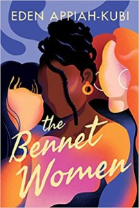 Cover of Bennet Women, featuring three women (one Asian, one Black, and one white with red hair) against a blue background